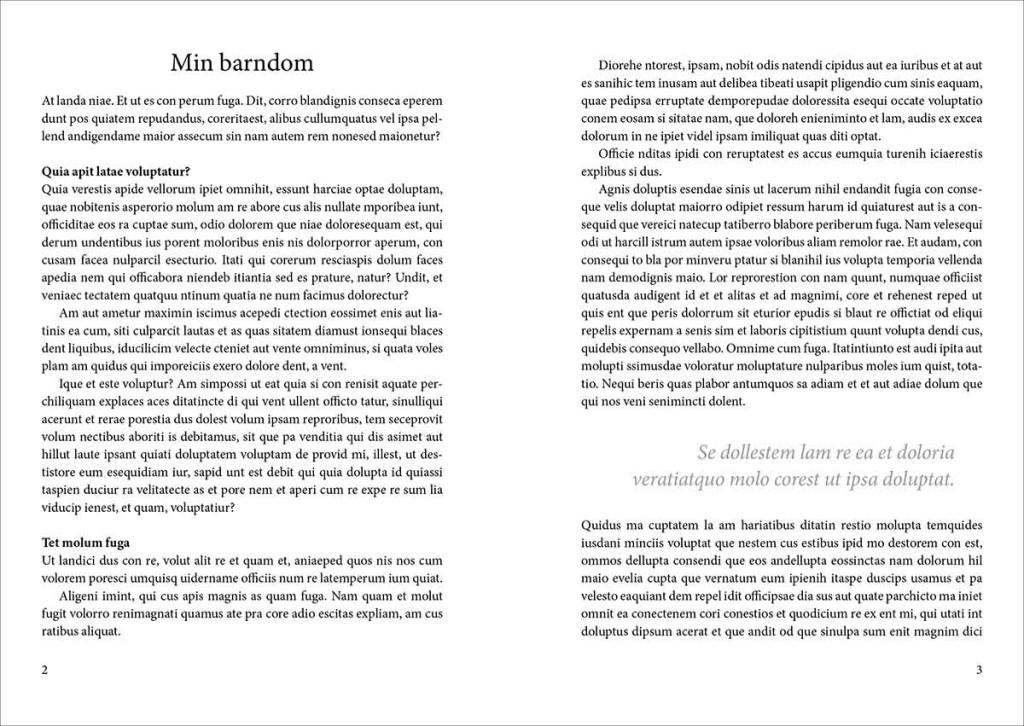 Bildet viser typografien som brukes i boken om deg.