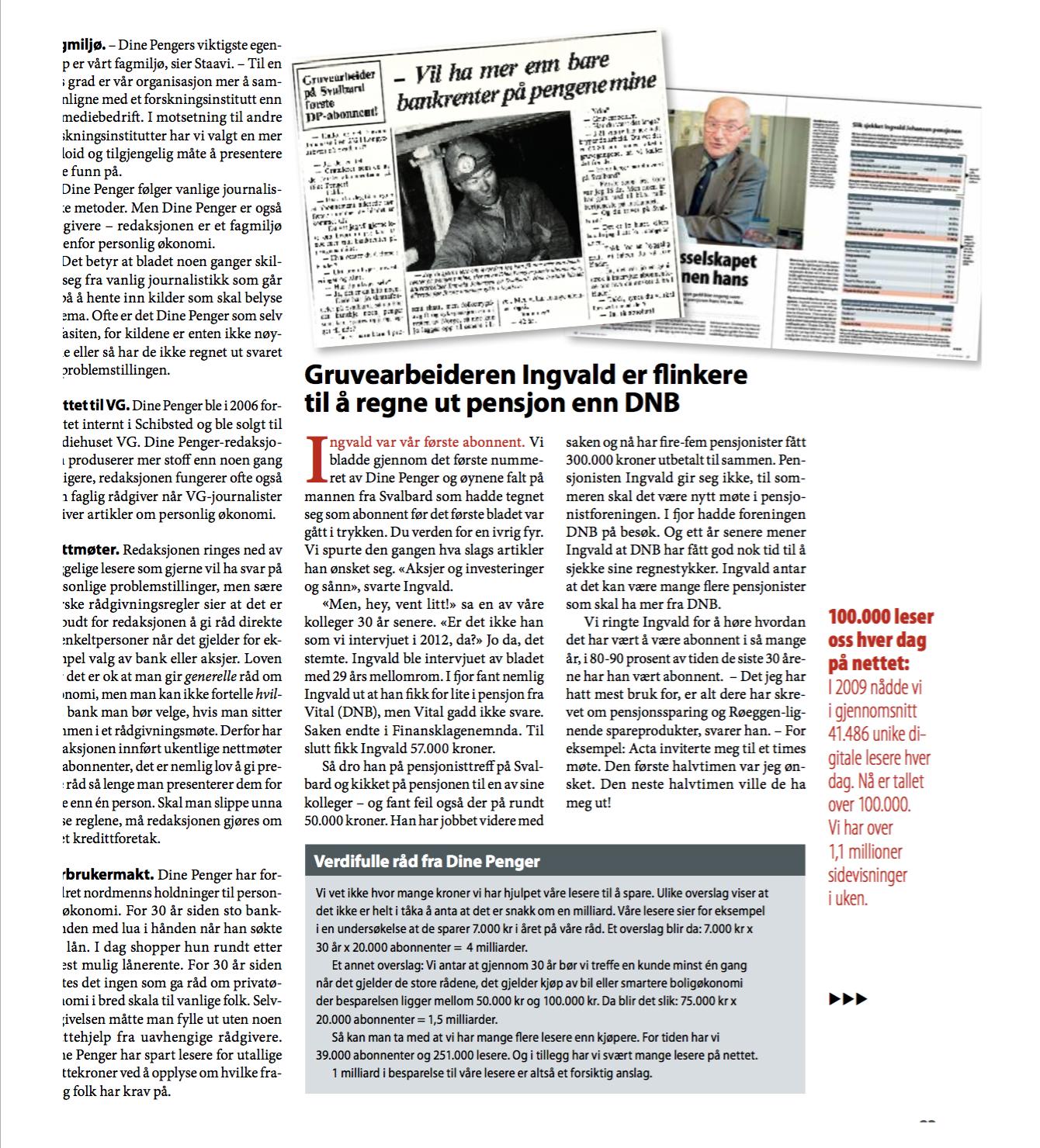 Skjermdump av artikkel skrevet av Sjur Jansen.