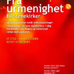 """Forsiden av boken """"Fra urmenighet til scenekirker""""."""